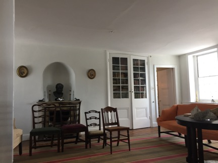 Wyck House interior room with four chairs, sofa and table