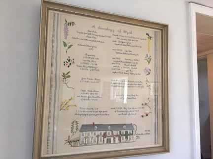 Embroidery artwork at Wyck House
