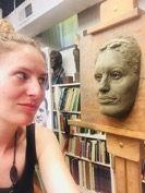 Emily Oriel and sculpture