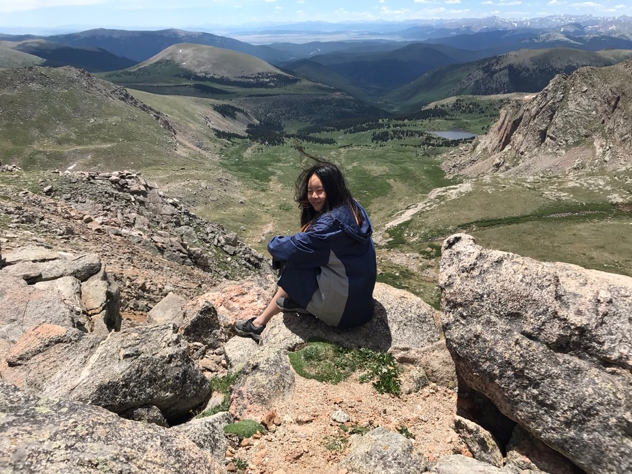 Tori Dang at Mount Evans
