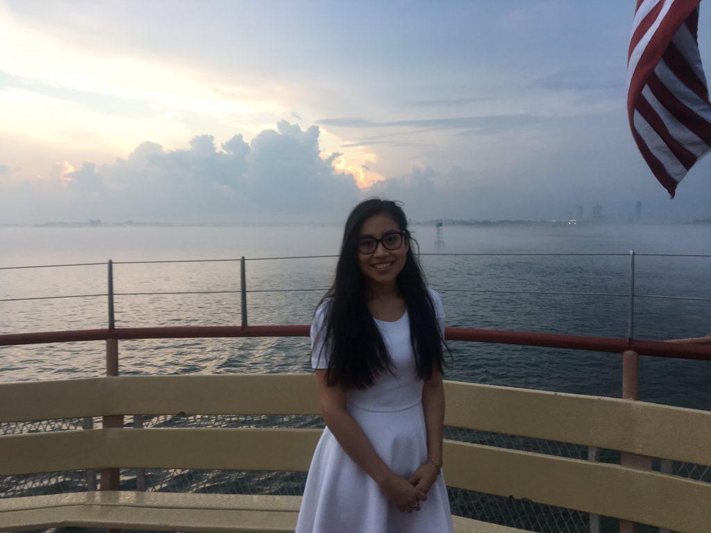 Yesenia Mendez by ocean